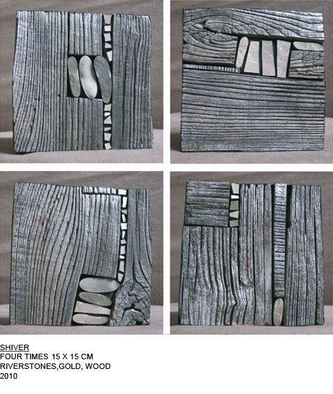 Em cascas de árvores