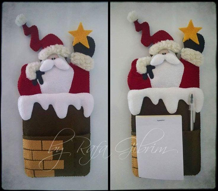 https://flic.kr/p/BShMNC | Porta bloco de anotações super fofo, para enfeitar ainda mais o Natal. | Papai Noel ensaiando a saída da chaminé  Porta bloco de anotações super fofo, para enfeitar ainda mais o Natal.