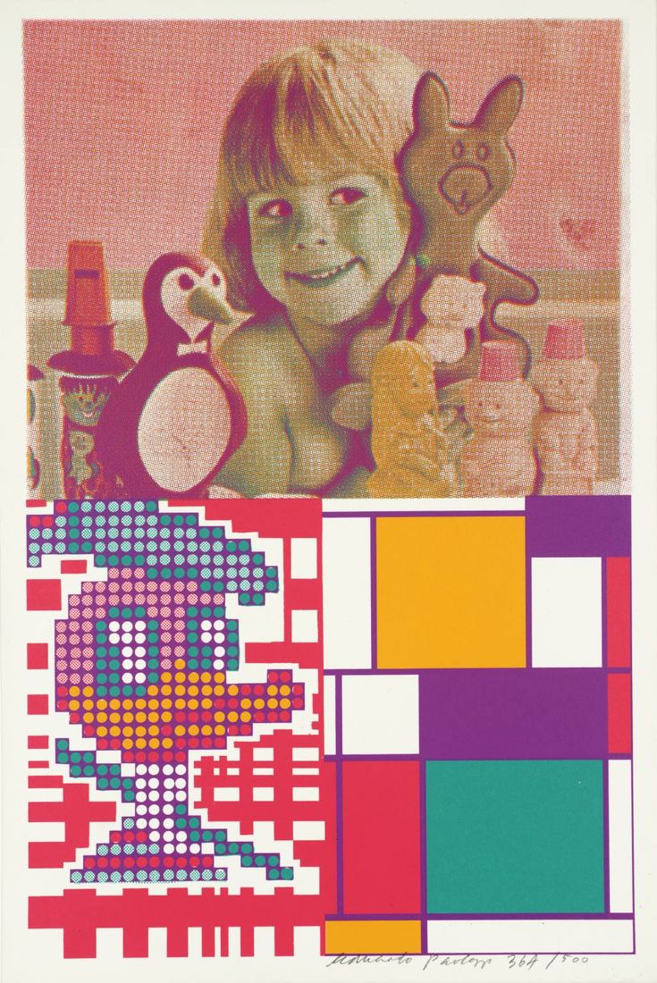 Sir Eduardo Paolozzi 'Donald Duck Meets Mondrian', 1967 © The Eduardo Paolozzi Foundation