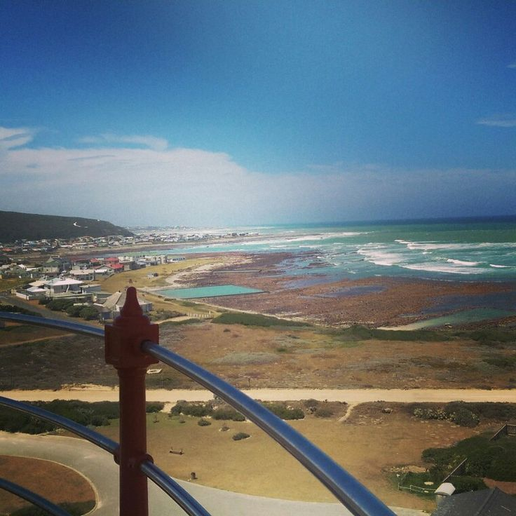View from the top of the Cape Agulhas lighthouse