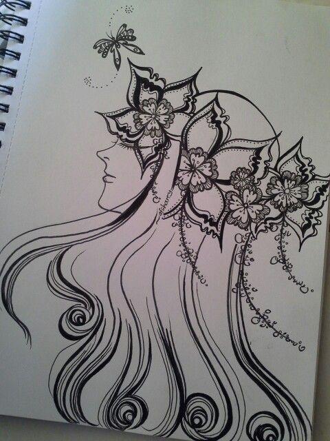 ~brave, an ink sketch