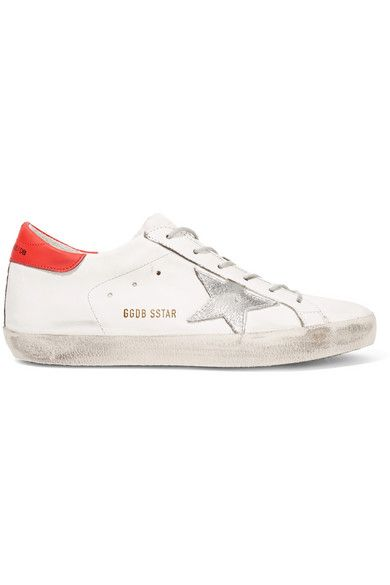 Rubber sole measures approximately 10mm/ 0.5 inches White, red and silver leather Lace-up front Made in Italy