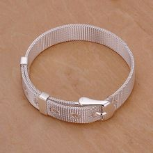 US $2.06 Christmas gift 2016 New 925 jewelry silver plated Fashion Jewelry 10mm Mesh bracelets&bangle,Wholesale jewelry SMTH237. Aliexpress product
