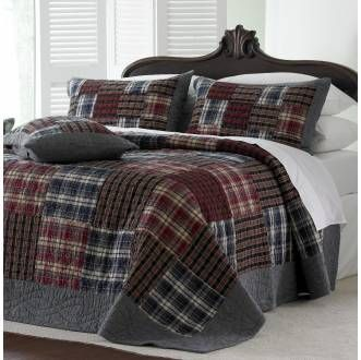 Tartan Patchwork Quilted Bedspread