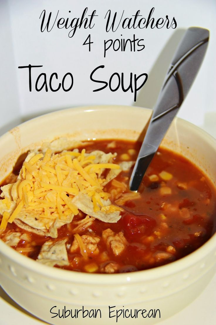 Weight Watchers Taco Soup 4 Points (6 Points + )