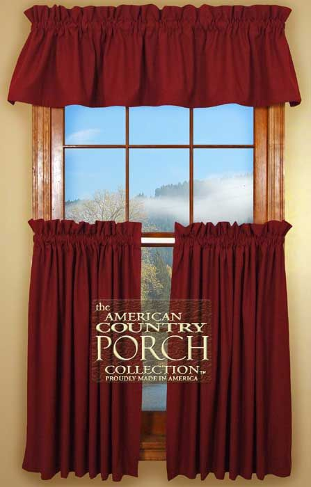 Solid Red Curtain Valances Home Pinterest Red
