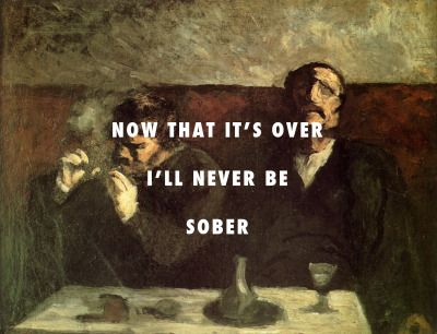 """""""Sober"""" by Childish Gambino over """"Two men sitting with a table, or the Smokers"""" by Honore Daumier"""