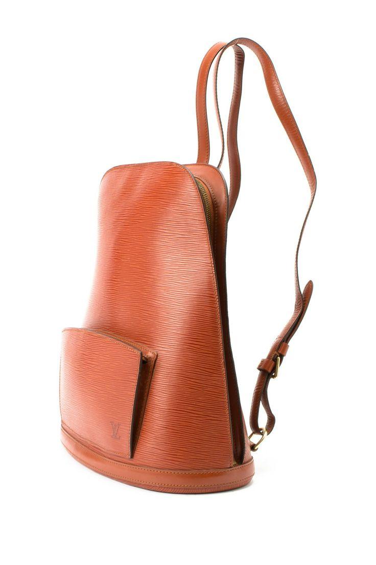 Vintage Louis Vuitton Leather Gobelins Backpack