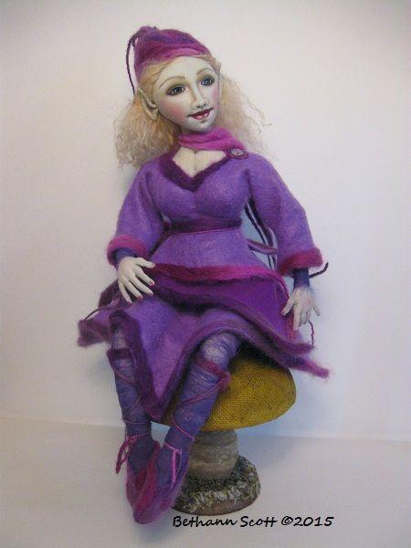 Cloth Fairy Elf Doll  by Bethann Scott ©2016