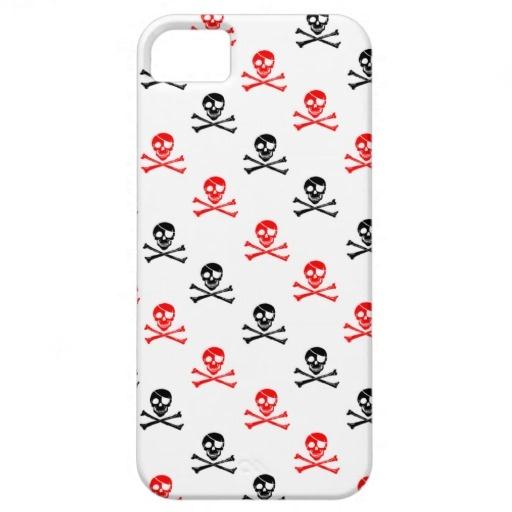 Caso cruzado bonito do iPhone 5 dos ossos Capas iPhone 5 Case-Mate