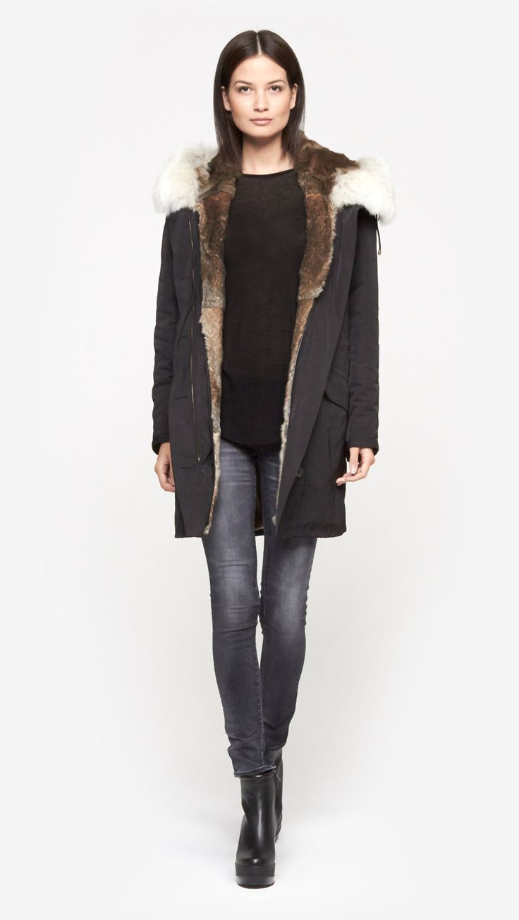 Fur Lined Parka by Yves Salomon