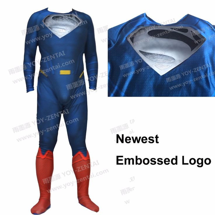 >> Click to Buy << Movie Coser Newest Emboosed Logo Superman Spandex Suit Superman Costume #1 #Affiliate