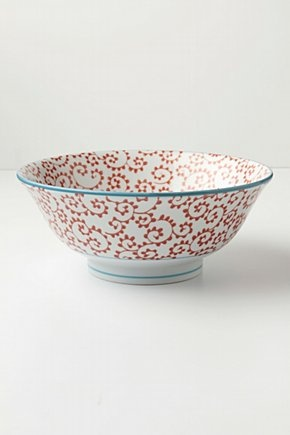 Inside out serving bowl, Fern  by Anthropologie