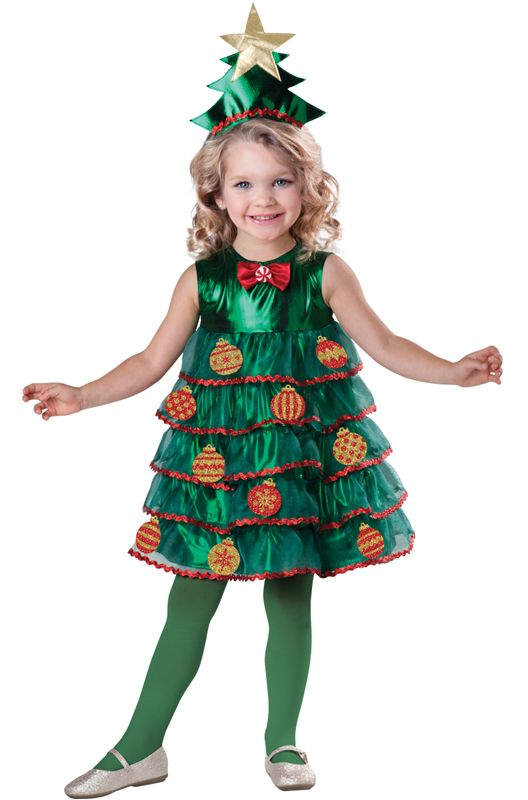 Lil' Christmas Tree Toddler Costume #Christmas #costumes