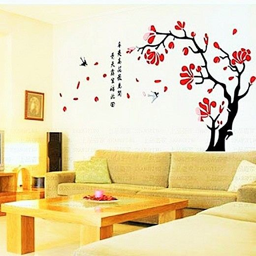 You can make any sort of design on the walls of the room, but whatever you make, make sure that it looks the best. Here you can see the combination of black and red again in the picture, you can also see that the wall design is matching with the roses on the table.