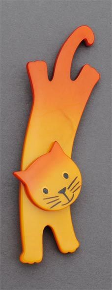 Marie-Christine Pavone Cat Brooch