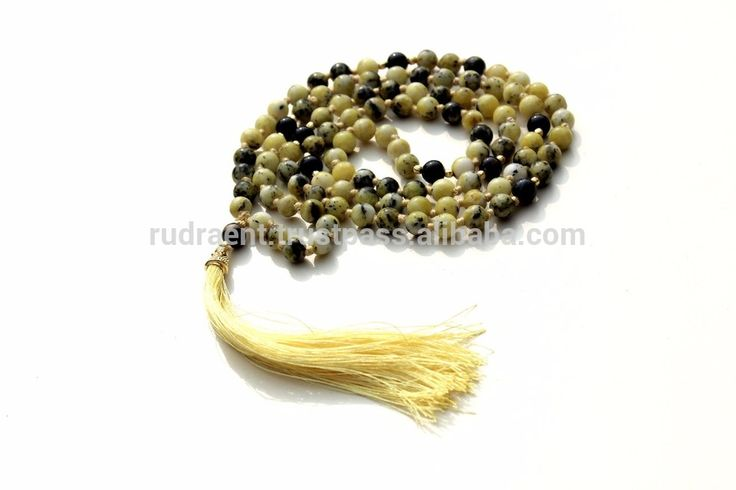 Serpentine, Onyx Spiritual Gemstone 108 Beads Mala, Boho Mala beads