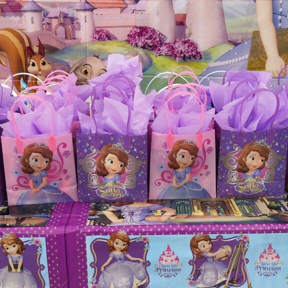 Sofia the first birthday party goodie bags. So easy and affordable.