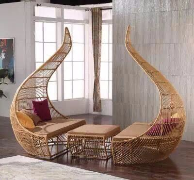 Two Seater Outdoor Lounge Bed Double Rattan Sun Lounger Buy Double Sun Lounger Rattan