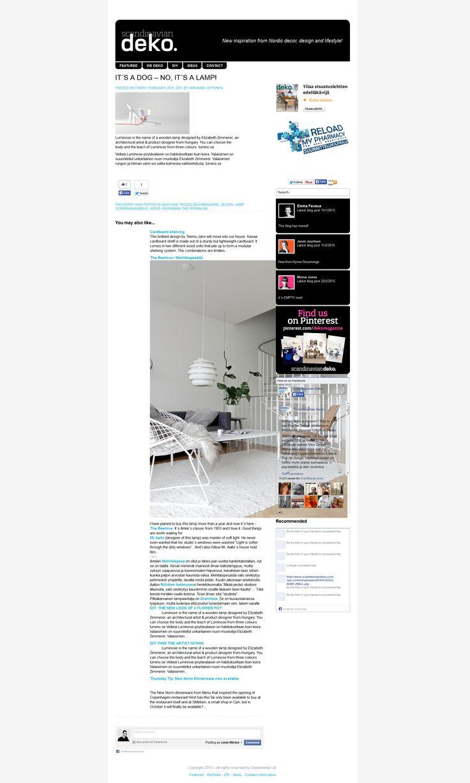 """""""Veikeä Luminose-pöytävalaisin on habitukseltaan kuin koira."""" – at @dekomagazine. #luminose #dekomagazine"""