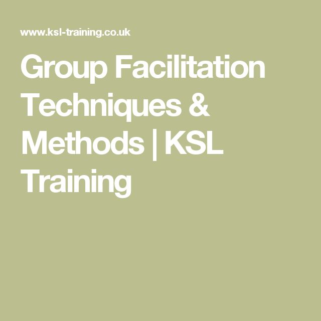 facilitation techniques training