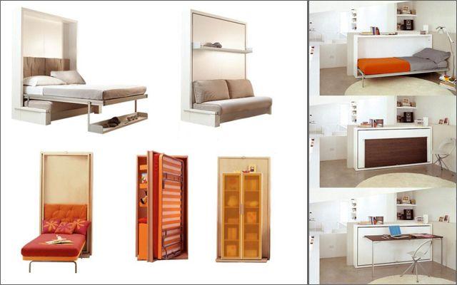Mueble multifuncional para espacios peque os dise o for Diseno de libreros para espacios pequenos