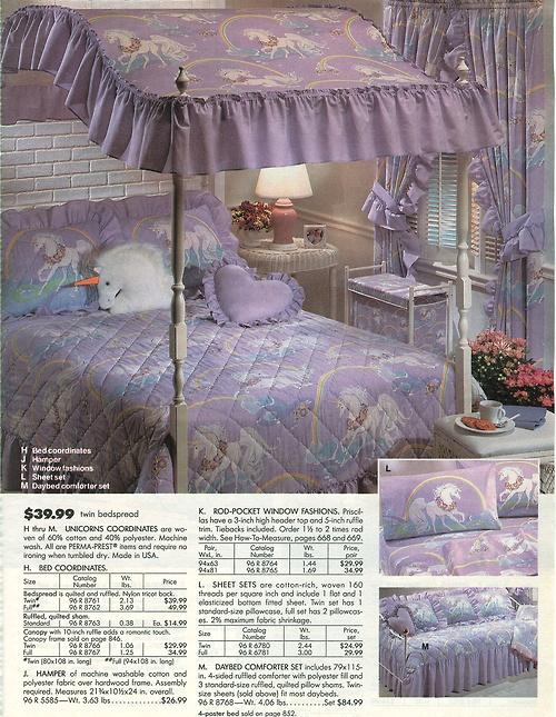 Unicorn Bedroom Set: Retro Flashback: 1990's, 80's