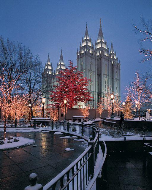 The Salt Lake City Temple, Usa