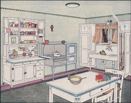 74 best original bungalow kitchens images on pinterest for Modern 1920 s kitchen