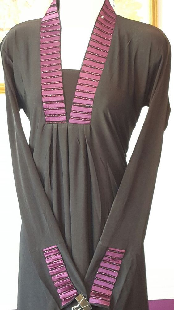 DUBAI ABAYA WITH MATCHING SCARF ISLAMIC MUSLIM CLOTHING WEAR KAFTAN JILBAB BURQA #ABAYA