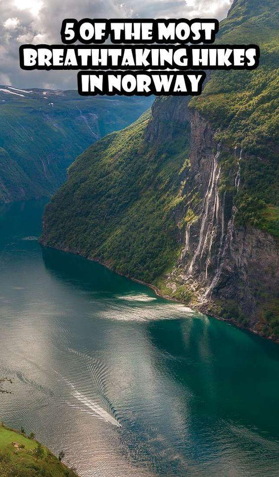 The best hikes in Norway? Skagefla, Trolltunga, Reinebringen, Preikestolen, Hermannsdalstinden summit. Five of the most breathtaking hikes in Norway.
