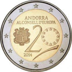 2 euro Andorra 2014 Council of Europe