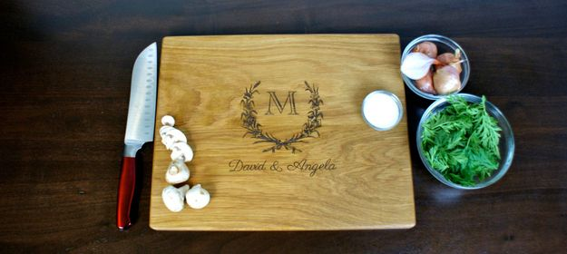 A personalized cutting board. | 17 Housewarming Gifts People Actually Want