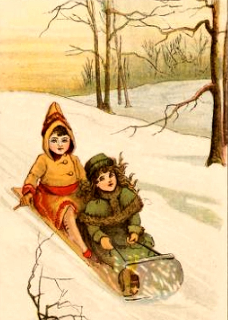 Free Vintage Images: Winter Fun for Children - 1905