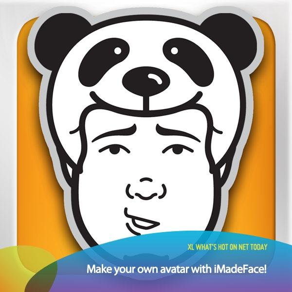Yuk bikin avatar diri kamu sendiri di iPhone! Aplikasi iMadeFace   Download aplikasinya dengan akses internet Hot Rod 3G+ kamu di: https://itunes.apple.com/us/app/imadeface/id582560267?mt=8    *as posted on XL Rame