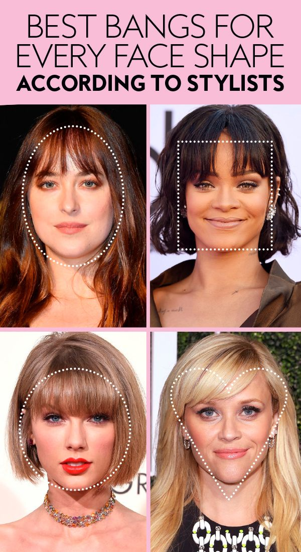 The Best Bangs For Your Face Shape According To Stylists Heart Shaped Face Hairstyles Face Shape Hairstyles Haircut For Face Shape