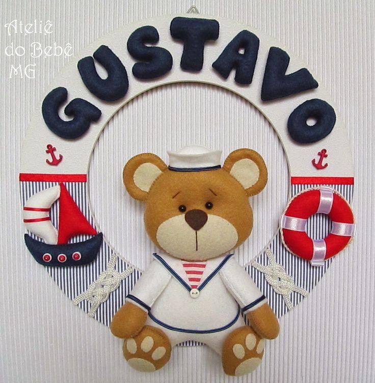 Ateliê do Bebê MG: Guirlanda Urso Marinheiro ( Gustavo )