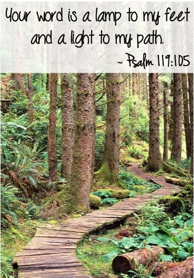 Your word is a lamp to my feet and a light to my path. ~ Psalm 119:105 #bibleverses | Tatoos | Pinterest | Paths, Pathways and Psalms