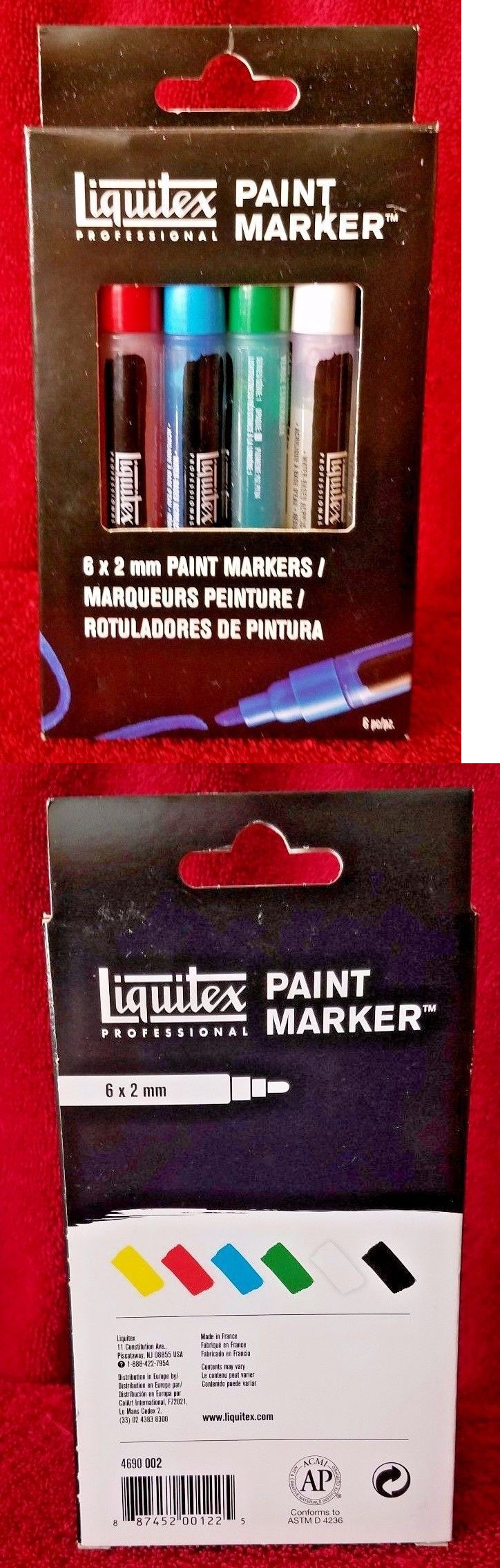 Art Paintings Mixed Media Collage: Liquitex 6 X 2Mm 6-Piece Professional Paint Marker Set Free Shipping Sealed New -> BUY IT NOW ONLY: $30.71 on eBay!