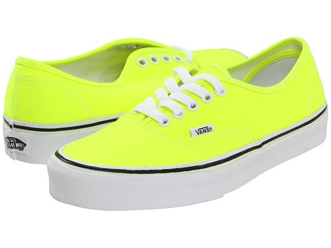 Vans Authentic™ - Neon Yellow. I just bought these! #shoe #indulgences