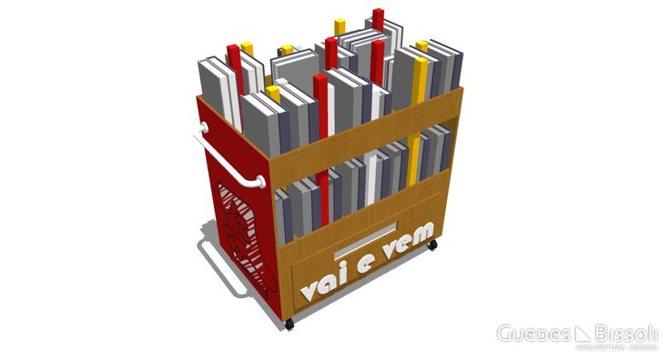 Projeto do design do móvel do projeto Vai e Vem - A biblioteca móvel da cidade de Sorocaba - São Paulo. Este projeto tem como principal objetivo incentivo à leitura. Elaborado para a Prefeitura Municipal de Sorocaba pelo escritório de arquitetura e design Guedes e Bissoli.