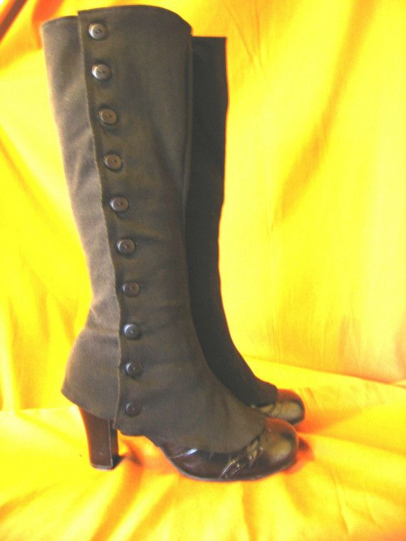 Victorian Steampunk Spats Medium by StraightRazorSlasher on Etsy...mad.