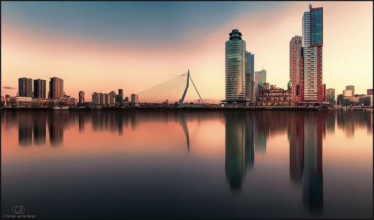 Rotterdam Skyline by Herman van den Berge: http://goo.gl/1PZNix  #TravelTuesday