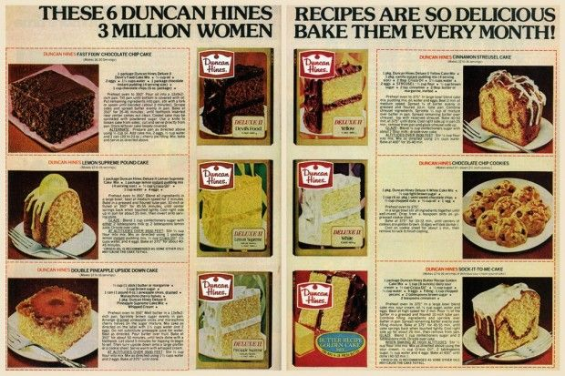 duncan-hines-cake-recipe-cards-march-1978 (3) the Sock It To Me cake is delicious and received lots of compliments.