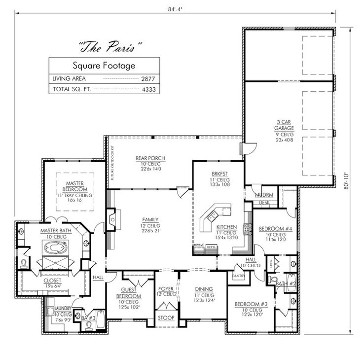 Very close to being a favorite floor plan the master bath for Madden house plans