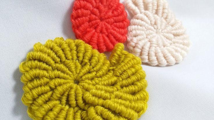 랏지바늘 사용 뜨개질 방법 / 코바늘 불리언 스티치 뜨는 방법/슈에이의 뜨개노트 3/뜨개질만화/how to Crochet bullion stitch with skill needle - YouTube