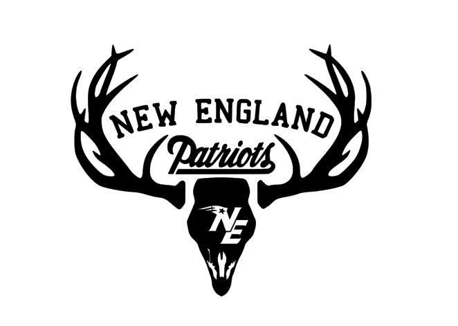 Deer Hunting Antler Truck Window Decal Sticker New England Patriots Football #VERHINEDESIGNS #CarDecal