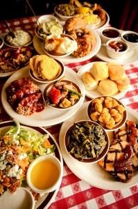 Loveless Cafe, Nashville TN.  Take a BIG appetite and wear elastic waist pants.