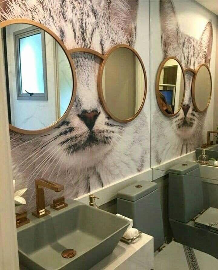 Cat Themed Bathroom Decor
