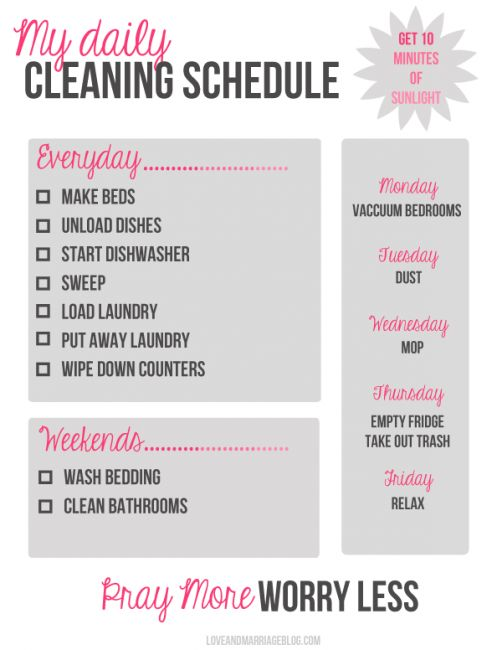 5 FREE cleaning printables to help you get organized | BabyCenter Blog